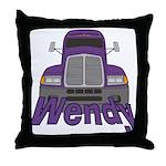 Trucker Wendy Throw Pillow