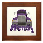 Trucker Wendy Framed Tile