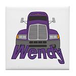 Trucker Wendy Tile Coaster