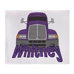 Trucker Whitney Throw Blanket
