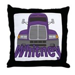 Trucker Whitney Throw Pillow