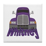 Trucker Whitney Tile Coaster