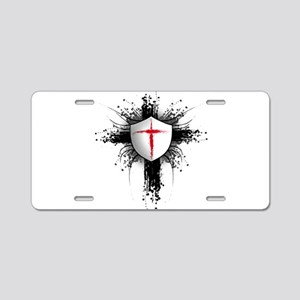 Templar Shield Aluminum License Plate