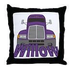 Trucker Willow Throw Pillow