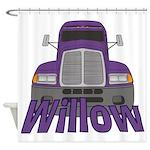 Trucker Willow Shower Curtain