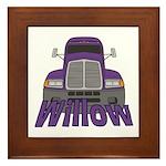 Trucker Willow Framed Tile