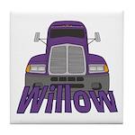Trucker Willow Tile Coaster