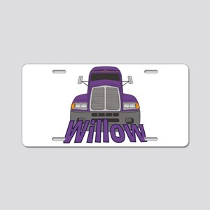 Trucker Willow Aluminum License Plate