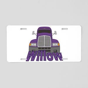 Trucker Willow Aluminum License Plate