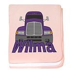 Trucker Wilma baby blanket