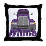 Trucker Wilma Throw Pillow