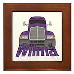 Trucker Wilma Framed Tile