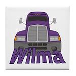 Trucker Wilma Tile Coaster