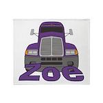 Trucker Zoe Throw Blanket