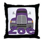 Trucker Zoe Throw Pillow