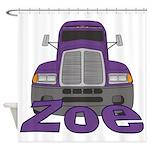 Trucker Zoe Shower Curtain
