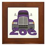Trucker Zoe Framed Tile