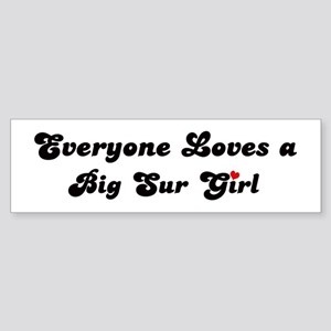 Big Sur girl Bumper Sticker