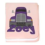Trucker Zoey baby blanket