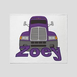 Trucker Zoey Throw Blanket