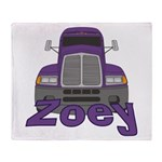 Trucker Zoey Throw Blanket