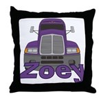 Trucker Zoey Throw Pillow