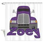 Trucker Zoey Shower Curtain