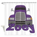 Trucker Zoey Shower Curtain