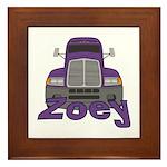 Trucker Zoey Framed Tile