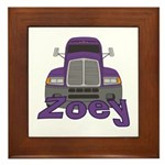 Trucker Zoey Framed Tile