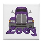 Trucker Zoey Tile Coaster