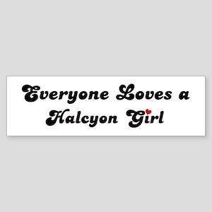 Halcyon girl Bumper Sticker