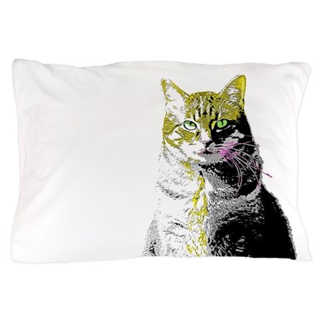 Pillow Case - Warhol inspired Cat