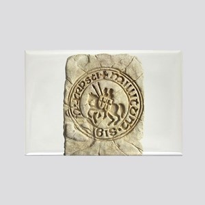 Templar Stone Rectangle Magnet