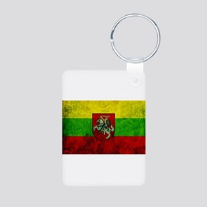 Lithuania Flag Aluminum Photo Keychain