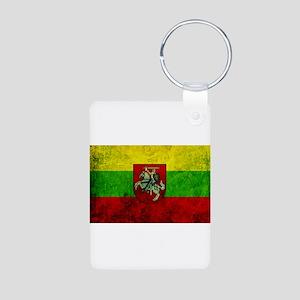 Lithuania Flag Aluminum Photo Keychain