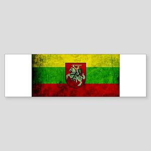 Lithuania Flag Sticker (Bumper)