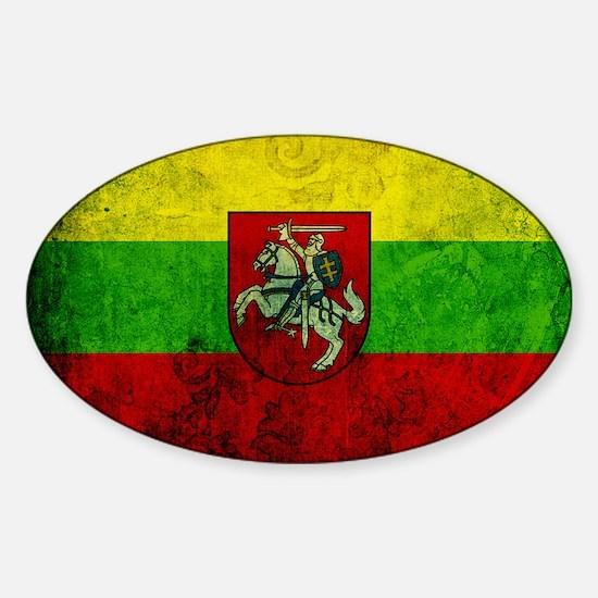 Lithuania Flag Sticker (Oval)