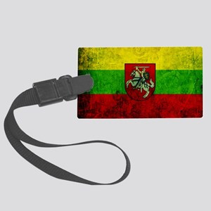 Lithuania Flag Large Luggage Tag