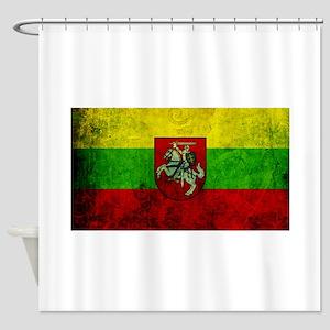Lithuania Flag Shower Curtain