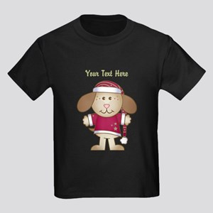 Christmas Puppy Kids Dark T-Shirt