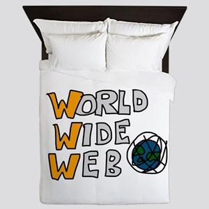 World Wide Web Queen Duvet