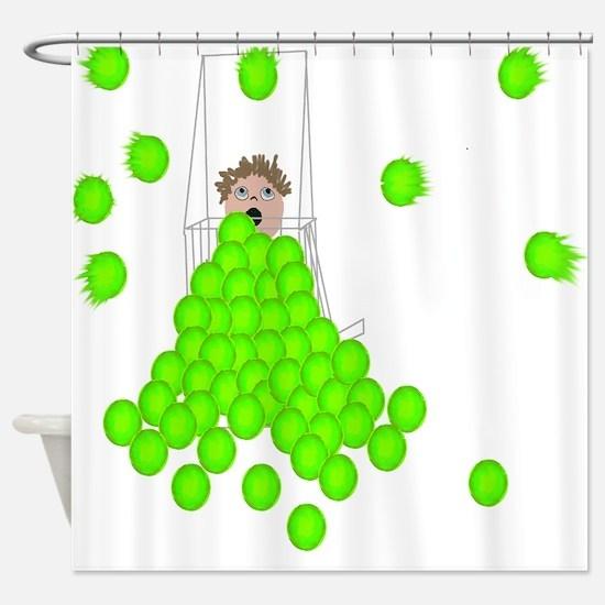 ballshagger.png Shower Curtain