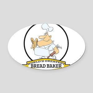 WORLDS GREATEST BREAD BAKER MAN CARTOON Oval C