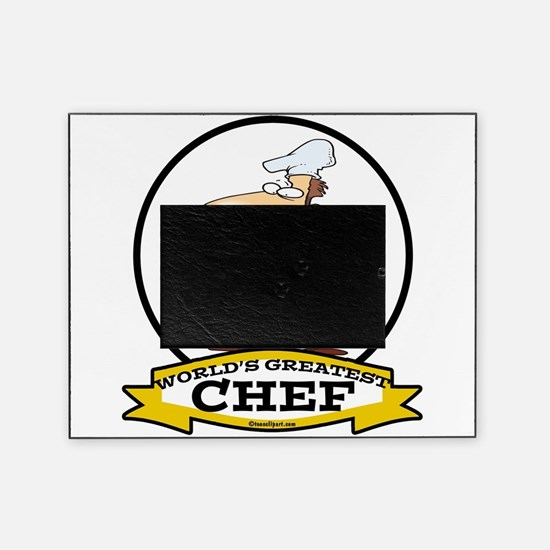 WORLDS GREATEST CHEF CARTOON.png Picture Frame