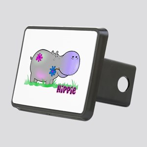 hippo flowers copy Rectangular Hitch Cover