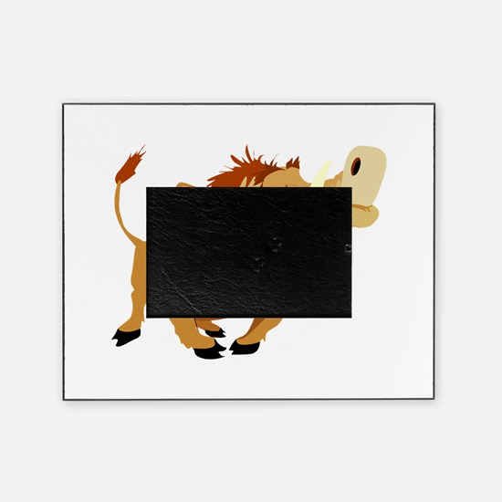 funny proud wild pig.png Picture Frame