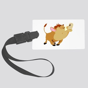 funny proud wild pig Large Luggage Tag