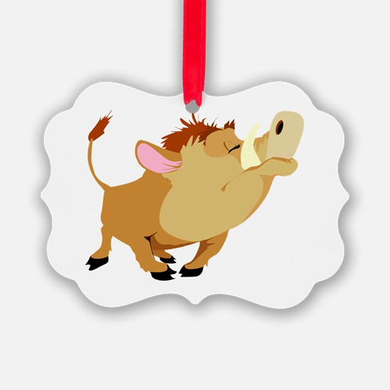 funny proud wild pig.png Ornament