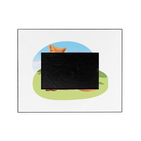 red fox in the fields.png Picture Frame